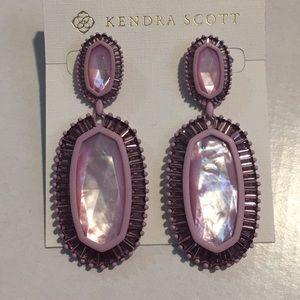 Kendra Scott kaki earrings lilac mother of pearl